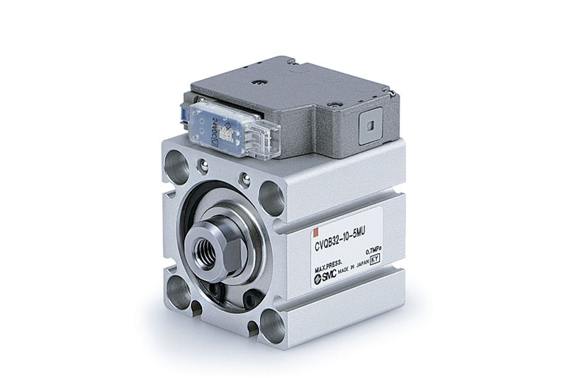 Compact cylinder with solenoid valve