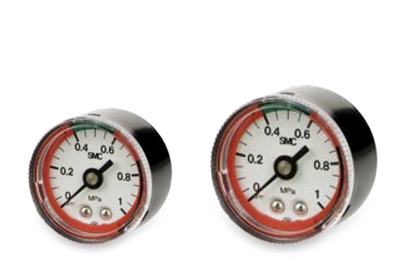 Pressure gauge with pressure indicator zone