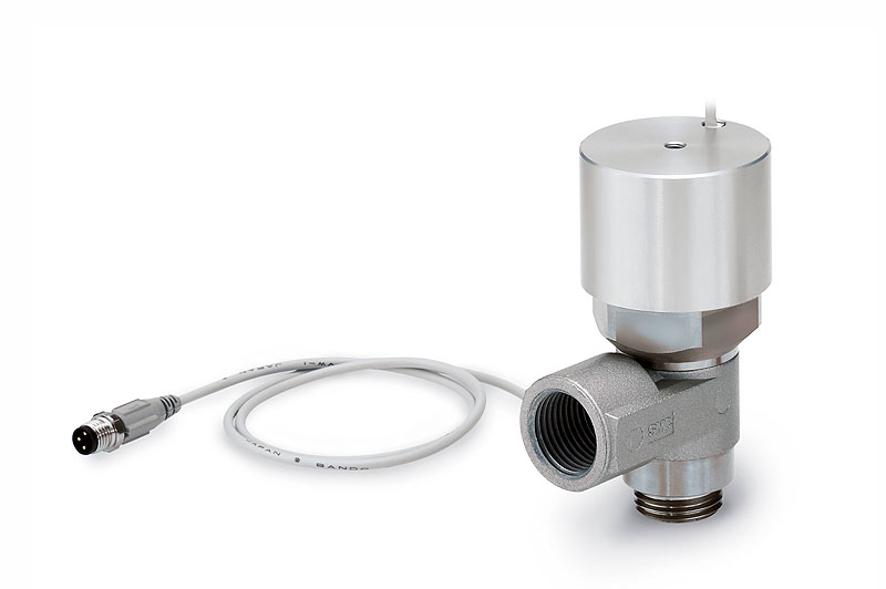 Pilot check valve with state detection